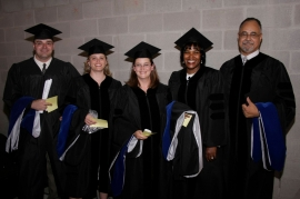 Doctoral Candidates at Commencement