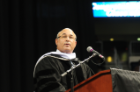 Kenneth A. Samet addresses the 2:00 p.m. graduates during the December 15, 2012 ceremony