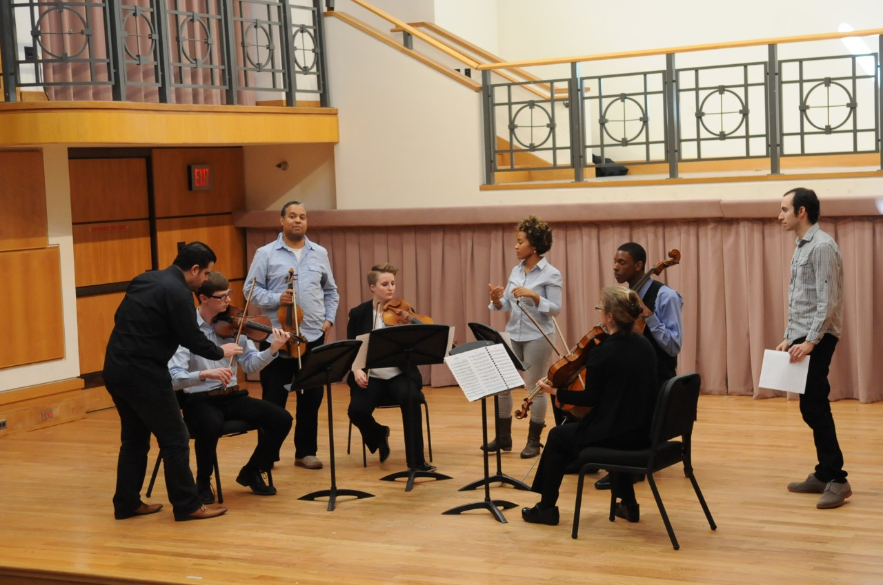 across campus a photo essay  one of the benefits of having a quartet is that all of the students can receive master musicians
