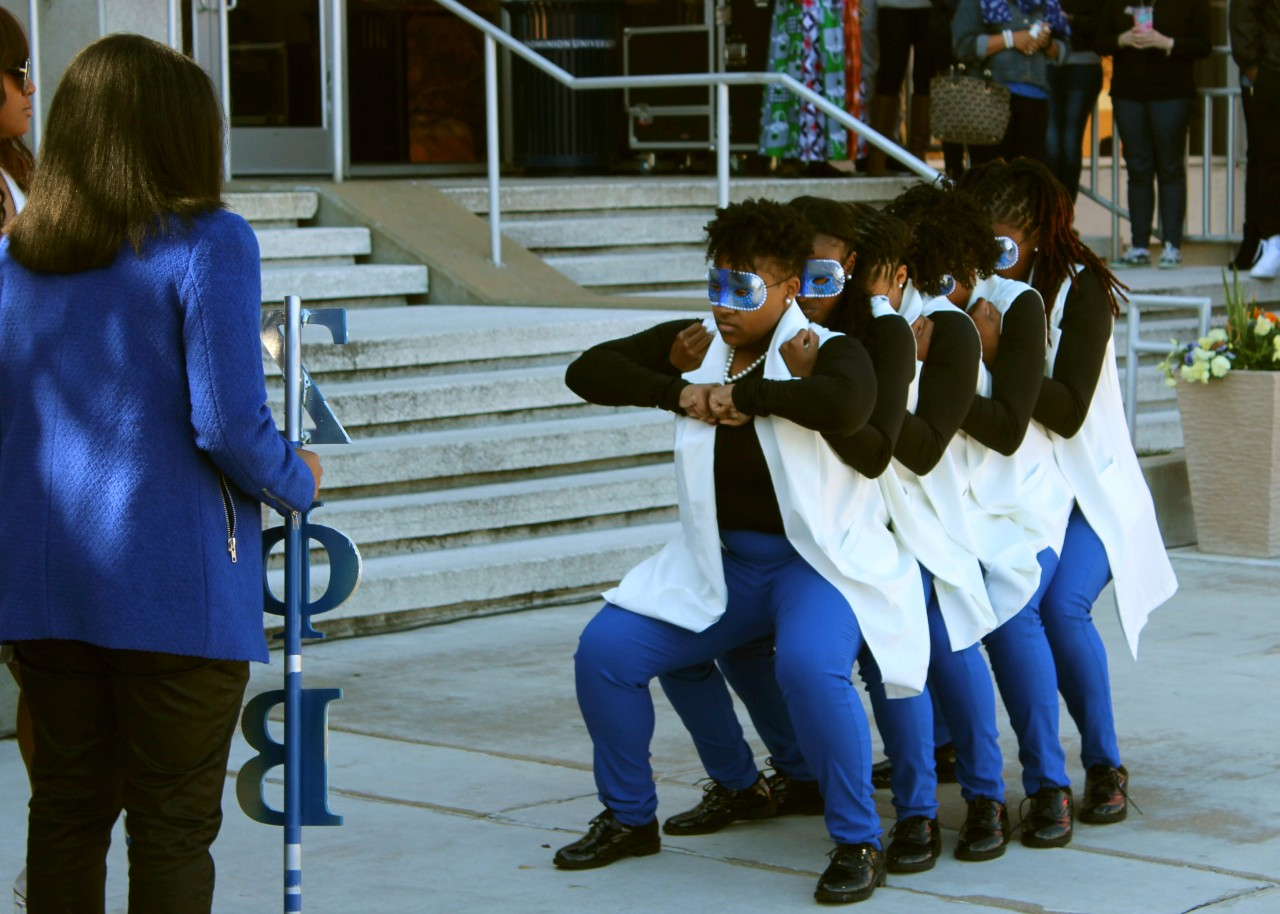 across campus a photo essay  the rho nu chapter of zeta phi beta sorority incorporated one of the country s during black history month