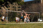 Students Play Volleyball