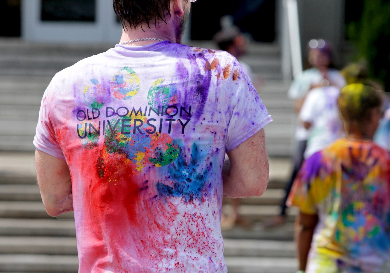 across campus a photo essay acirc  the asian water and color festival is a celebration of spring there is colored powder