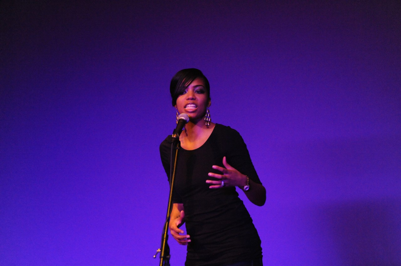 across campus a photo essay  neisha himes aka beautiful dizaster delivers an uplifting spoken word tribute to rape and abuse victims
