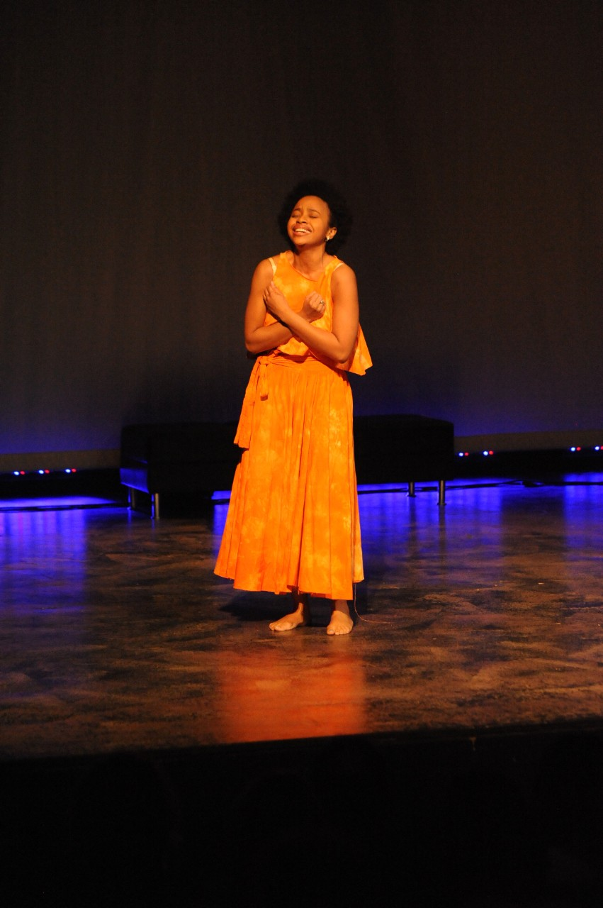 across campus a photo essay  actors from norfolk state university performed a piece titled for colored girls stand by me