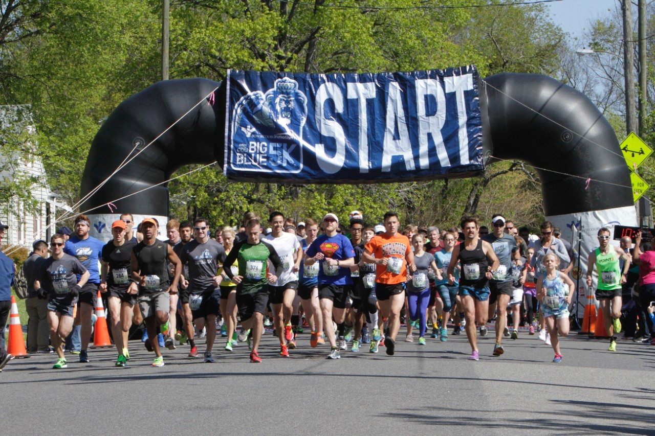 across campus a photo essay 21 2016 the start of the big blue 5k race between the 5k and the 1